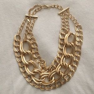 Baublebar gold bib necklace